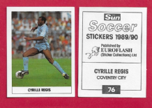 Coventry City Cyrille Regis England 76